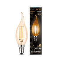 Светодиодная лампа Gauss 104801005 LED Filament Candle tailed E14 5W 2700K Golden